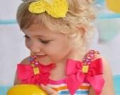 Easter Headband - Yellow White Lavender Easter Bunny Headband -  Easter Hair Clip - Bunny Hair Clip - Toddler Teenager Adult Headband