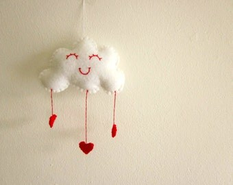 Felt Love Cloud Plush Wall Hanging Ready to Ship