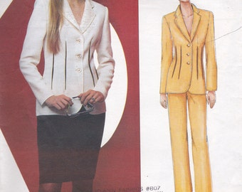 Bill Blass Jacket, Skirt & Pants Pattern Vogue 2464 Sizes 14 16 18 Uncut