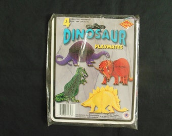 Beistle Honeycomb Dinosaur Playmates Set of Four Tissue Party Decorations Unused 1987