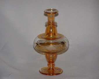 Vintage Pressed Glass Etched Three Footed Center Piece By Parkie2