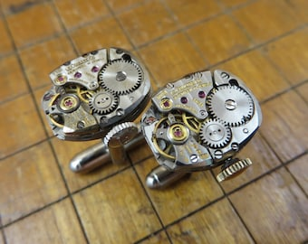 LeCoultre K840 Watch Movement Cufflinks. Great for Fathers Day, Anniversary, Groomsmen or Just Because.  #671