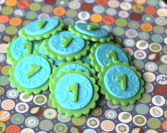Fondant Cupcake Toppers - Age Number Fondant Toppers - Perfect for Cupcakes, Cookies and Other Edibles