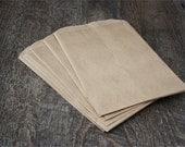 25 Flat Kraft Merchandise Bags. Paper Bags. Gift Bags. Supplies. 5x7 Bags