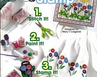 Stitch & Stamp Plastic Canvas Pattern Book The Needlecraft Shop 844372