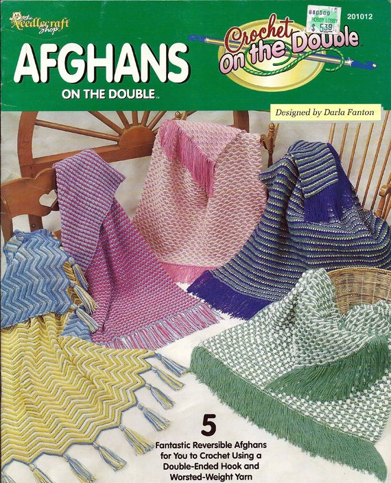 Crochet On The Double : Afghans On The Double Crochet Pattern Book The Needlecraft Shop 201012