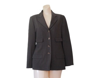 Vintage Giorgio Armani Brown Blazer Women Blazer Jacket Fitted Blazer Women Suit Jacket Designer Blazer Designer Clothing Ladies Blazer Fall