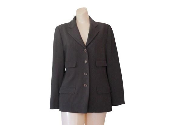 Fantastic NEW Suit Studio Womens Gold Brown Black Button Blazer 2 PC Pants Suit