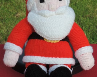 HAND KNITTED  Father Christmas Doll  - ( Ready to Ship) -   Christmas in July