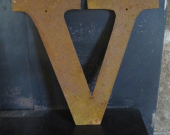 """Metal letter """"V"""" or any letter A-Z"""