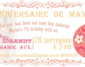 Vintage French Art Show Ticket Invitations