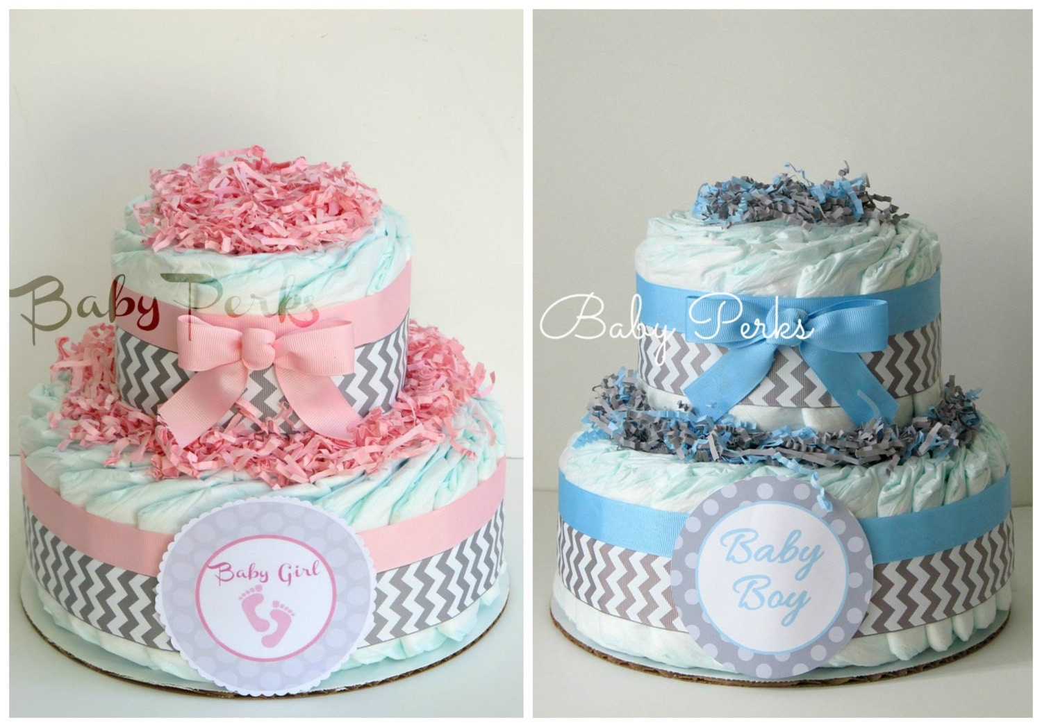 Diaper Cake Blue Safari