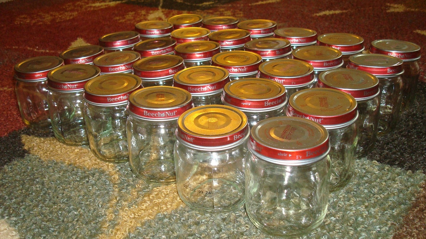 Empty Baby Food Jars Lot of 30 Empty Baby F...