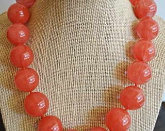 CHERRY QUARTZ KNOTTED necklace with sterling silver massive clasp