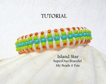 Beading Pattern, Bracelet Pattern,Beading Tutorial,Jewelry Making Pattern,Seed Bead Tutorial, Superduo Tutorial, Beading Instructions,PDF
