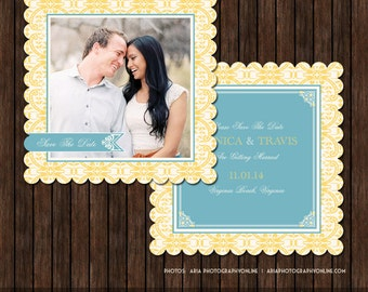 Luxe Save the Date Card Template - S7
