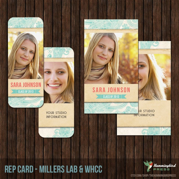 INSTANT DownloadSenior Rep Card Template, Referral Card - Millers and WHCC - R1