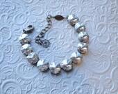 Swarovski Crystal Bracelet in 12mm Moonlight Rivolis