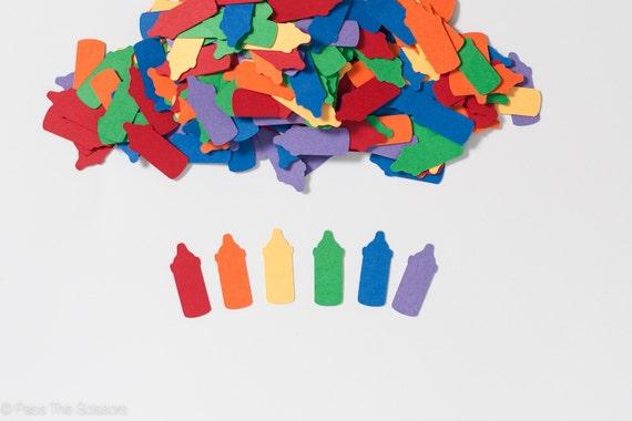 Rainbow baby shower decoration bottle confetti rainbow for Baby confetti decoration