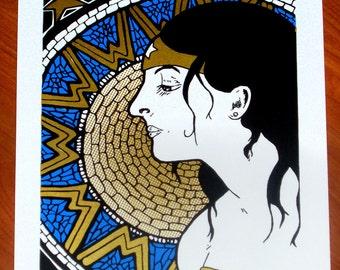 Wonder Woman Pop Art Variations handpulled silkscreen print