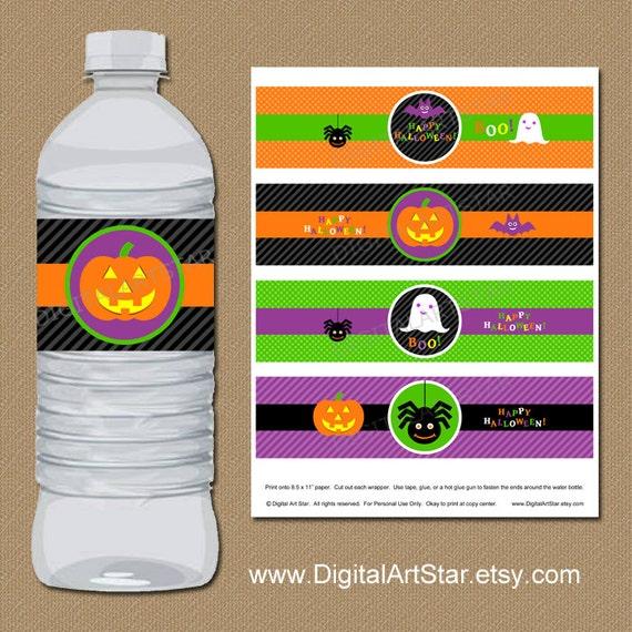 Diy Drinks Food Printables: Halloween Water Bottle Labels Halloween Labels By