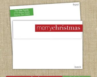 Wrap around return address labels