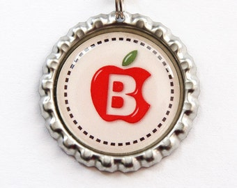Monogram Bookmark, Gift for Teacher, Apple Bookmark, bookmark, custom bookmark, Personalized Bookmark, apple, Stocking Stuffer (3320)