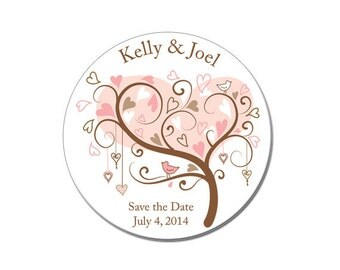 Wedding Save the Date, Wedding Announcement, Save the Date, Engagement, Save the Date Magnet, Magnet, Custom, Personalized, Hearts (3885)