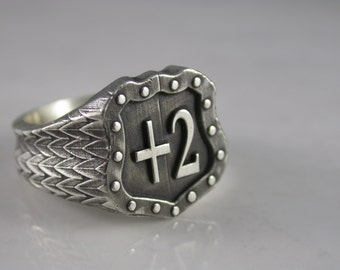 Ring of Protection  +2 (Sterling Silver, Bronze, Stainless Steel) (Size 4-13)