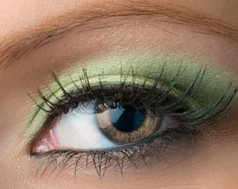 "Green Eyeshadow Shimmer - ""Pistachio"" - Vegan Mineral Eyeshadow Net Wt 2g Mineral Makeup Eye Color Pigment"