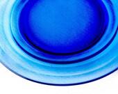 "PRICE REDUCTION!  10 Hazel Atlas Moderntone Depression Cobalt Blue Depression Glass 8 7/8"" Salad Plates"