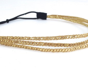 Gold Three Strand Greek Style Headband
