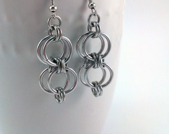 Double Infinity Chainmaille Earrings
