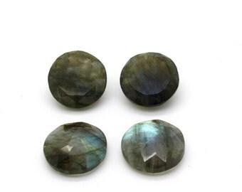 GCF-1222 - Labradorite Faceted Gemstone - 16mm Round - Calibrated Gemstone - AA Quality - 1 Pc