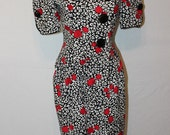 Vintage 80s Designer Dress - Raul Blanco - 80s does 40s - Size 4