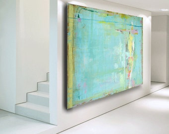 "Large Abstract Painting ""custom"" painting original art contemporary modern art blue painting huge painting on canvas by Cheryl Wasilow"