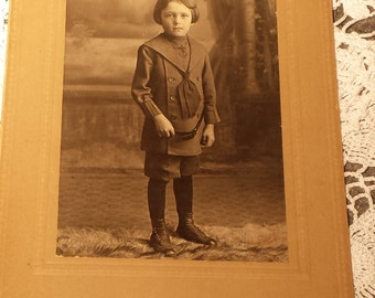Vintage 1800s Photograph Child 4 X 5 1/2 inches