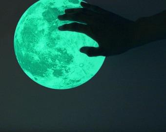 M-size Moonlight night-light sticker, CLAIR DE LUNE (glow in the dark moon wall sticker - 21cm)