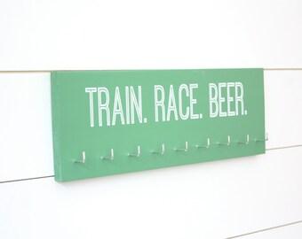Marathon Medal Holder - Train. Race. Beer. - Medium