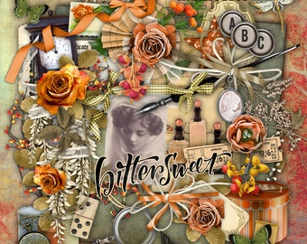Bittersweet Element Set - Digital Scrapbooking