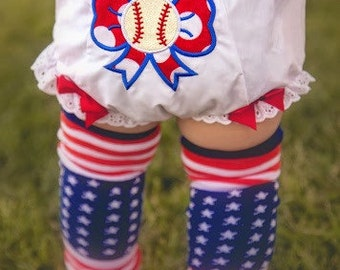 Baseball bloomers- softball bloomers- Diaper cover