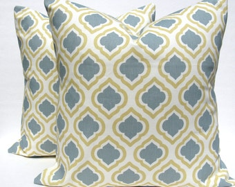 Euro Pillow - Floor Pillow - Floor pillow covers - Euro Pillow Shams -  Blue gold pillow - Pillow Covers - Cushion Covers  - Euro Pillow