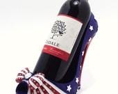 Shoe Wine Bottle Holder 4th July Patriotic