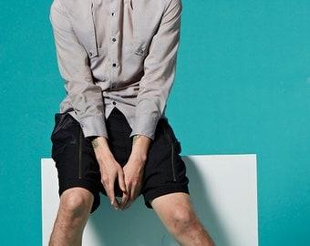 Two-tone Shirt (Grey)