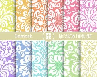Popular items for damask on etsy - Papeles decorativos para imprimir ...