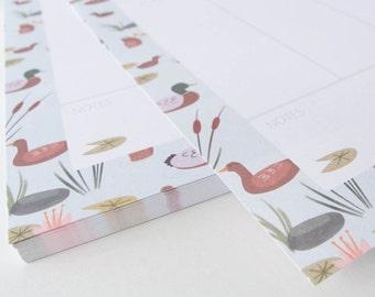 Weekly Planner - Duck Pond - Notepad Weekly Planner