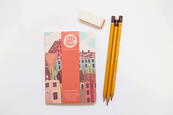 Notebook 112pages - Coral Pink - Travel Notebook - Note-book - Pocket Notebook