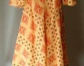 Vintage late 60s Bohemian David Silverman Flutter Dress L
