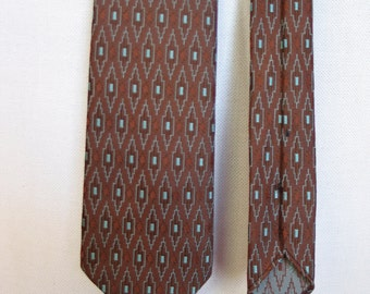 Vintage late 1950s Mens Geometric Pattern Necktie