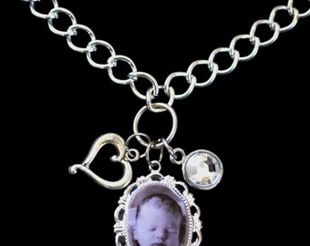 Oval Photo Pendant Necklace, Personalized Photo Jewelry